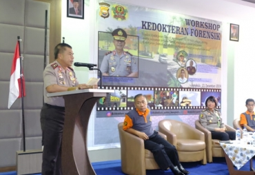 Kapolda Buka Workshop Update Kedokteran Forensik